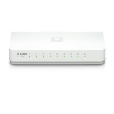 D-Link-8埠-網路交換器-DES-1008A
