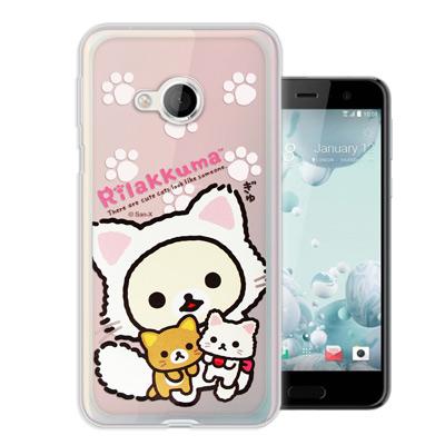 日本授權正版 拉拉熊 HTC U Play 5.2吋 變裝彩繪手機殼(貓咪粉)