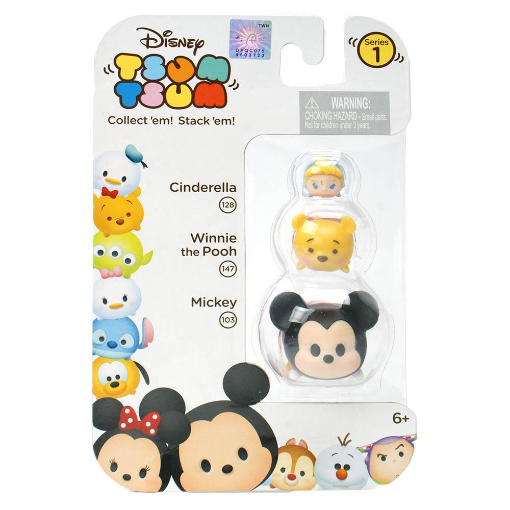 Disney迪士尼 LINE消消樂 Tsum Tsum 大中小疊疊樂(3入款式隨機)
