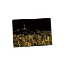 LAGO 手刮城市金色夜景手刮畫(附刮棒)-首爾