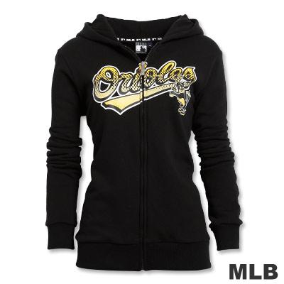 MLB-巴爾的摩金鶯隊厚棉外套-黑(女)