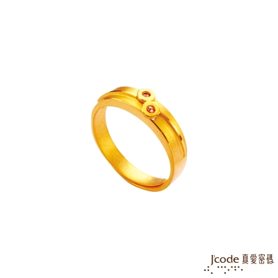 J'code真愛密碼 愛在一起黃金/水晶女戒指