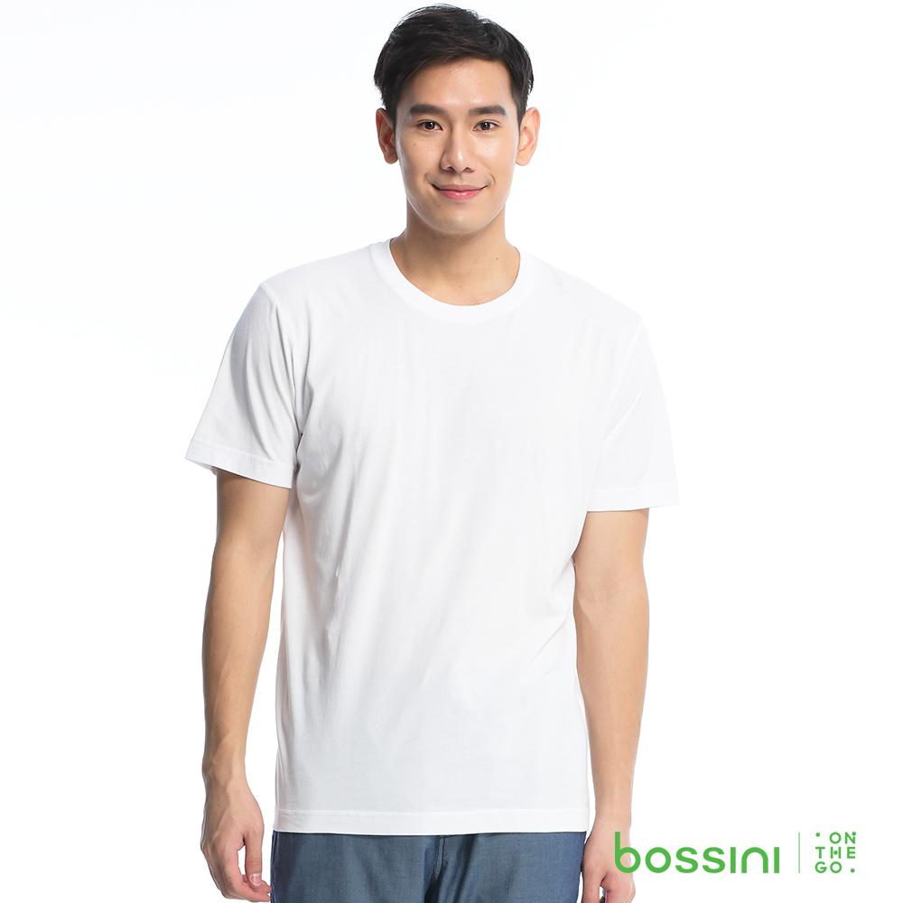 bossini男裝-素色純棉圓領T恤10白