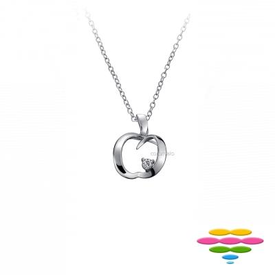 彩糖鑽工坊 14K 愛心蘋果 鑽石項鍊 情有獨鍾系列