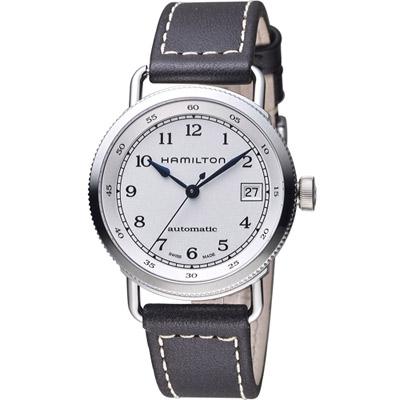 HAMILTON 漢米爾頓 Khaki Navy系列 航海機械錶-白/36mm