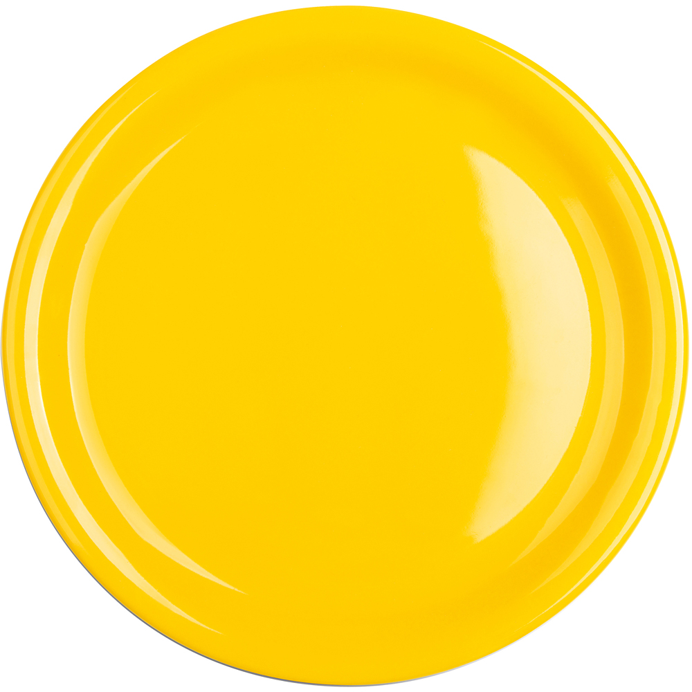 EXCELSA Fashion陶製淺餐盤(黃26.5cm)