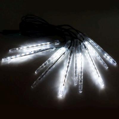 聖誕燈裝飾燈LED流星燈串(10燈插電式/單燈長20cm)(白光)