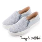 Pineapple Outfitter 美式休閒  街頭潮流虎斑布真皮懶人鞋-淺藍