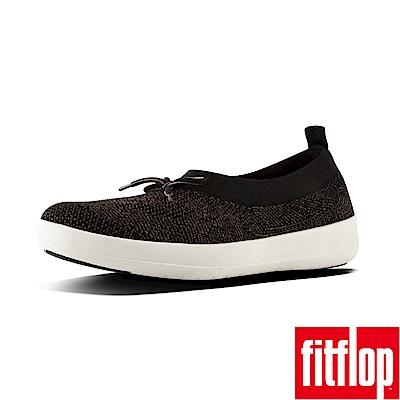 FitFlop UBERKNIT SLIP-ON BALLERINAS黑/金
