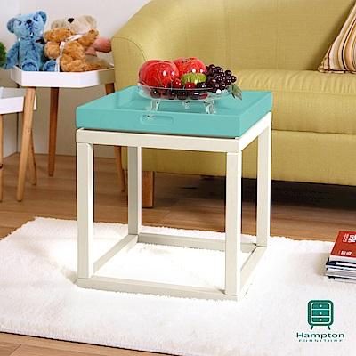 漢妮Hampton安琪拉多功能小托盤茶几組(白+藍)/凳子/書架/桌子/置物架