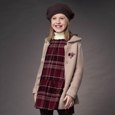 PIPPY 時尚格紋背心裙 紅