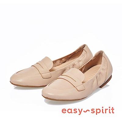Easy Spirit--百搭基本款羊皮樂福平底鞋-好感膚