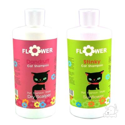 FLOWER 花貓天然潔淨系列 寵物專用沐浴精 500ml x 1入