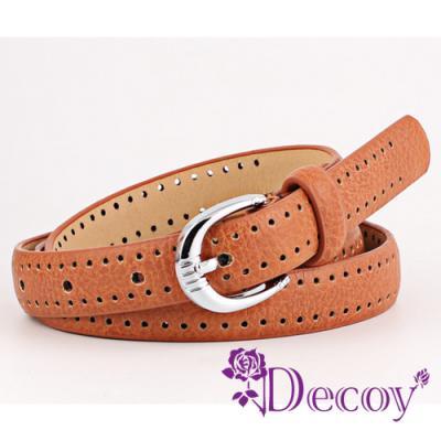 Decoy 雙排點點 鏤空穿孔皮帶 四色可選