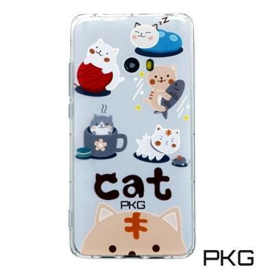 PKG 小米NOTE2 彩繪空壓氣囊保護殼-浮雕彩繪-日常貓
