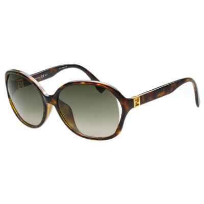 FENDI 時尚太陽眼鏡 (琥珀色)