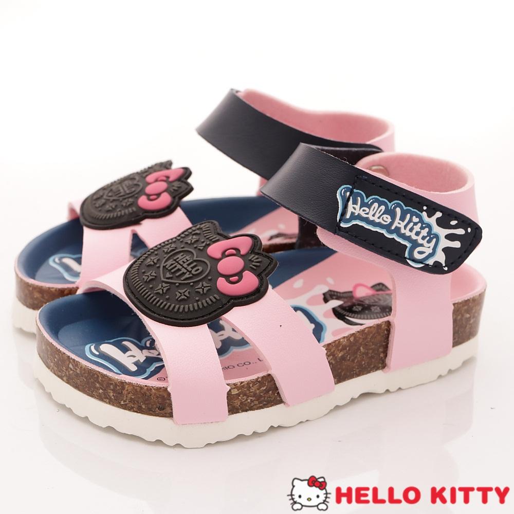 HelloKitty童鞋 餅乾造型軟木涼鞋款 EI18138粉(小童段)