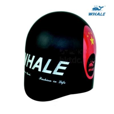 WHALE  一體成形無縫防水矽膠成人泳帽