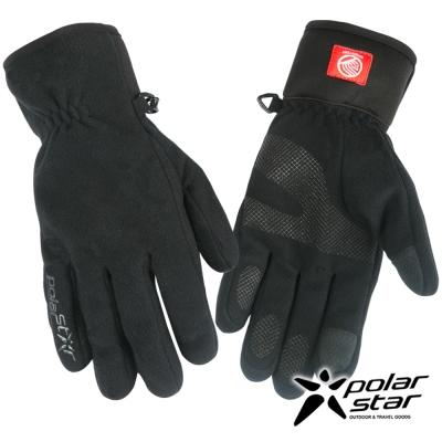 PolarStar 男防風保暖手套『黑』P16615