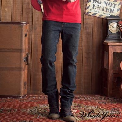 WHALE JEANS 男款簡約刷色伸縮直筒牛仔褲