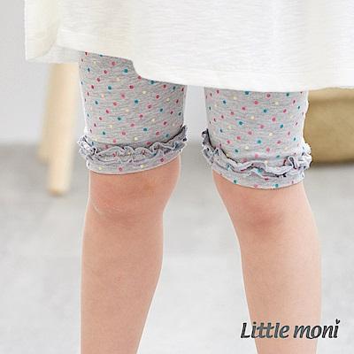 Little moni 荷葉花邊五分合身褲 (2色可選)