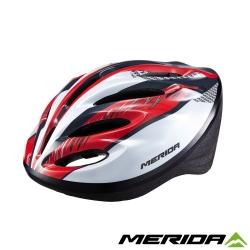 《MERIDA 》美利達亮眼安全帽明亮紅-MV15