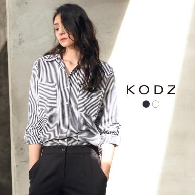 東京著衣-KODZ 極簡百搭率性雙口袋設計襯衫-S.M.L(共二色)