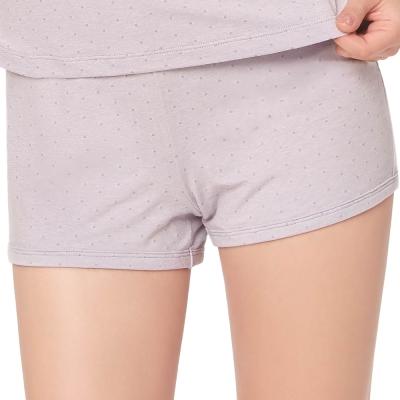 思薇爾 幾分甜輕甜風系列M-L素面居家短褲(濛灰色)