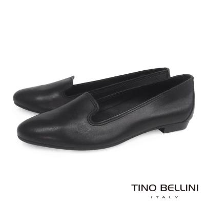 Tino-Bellini-義大利簡約經典樂福鞋-黑