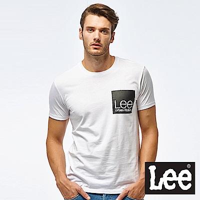 Lee LEE box logo print短袖圓領TEE-男款-白