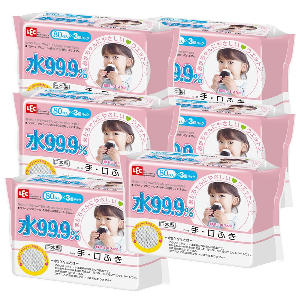 純水99.9%日本製LEC濕紙巾手口專用3入*6