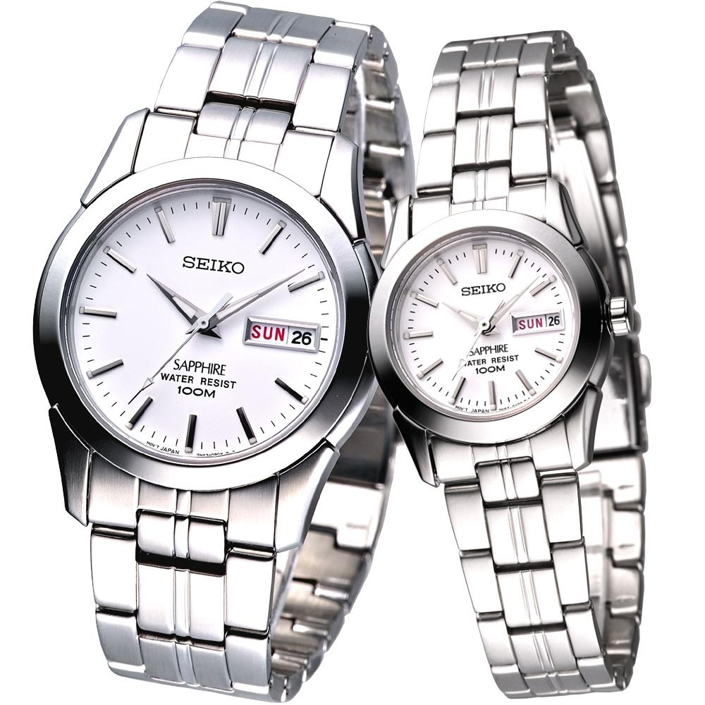 SEIKO時尚藍寶石鏡面典藏對錶-SGG713P1 SXA097P1