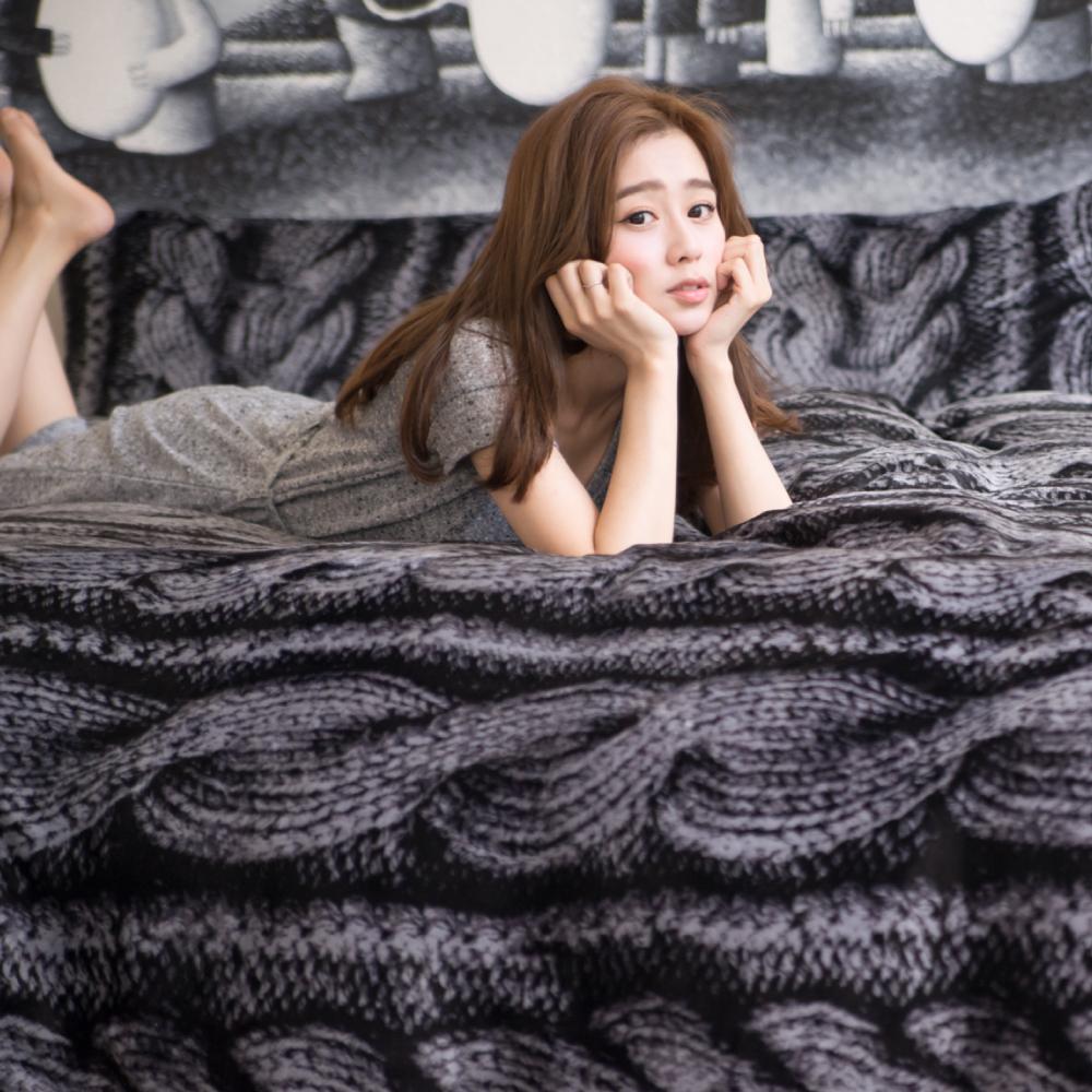 PRIMARIO 台灣製 雙人-防靜電極緻保暖法蘭絨被套/床包四件組 凡妮莎