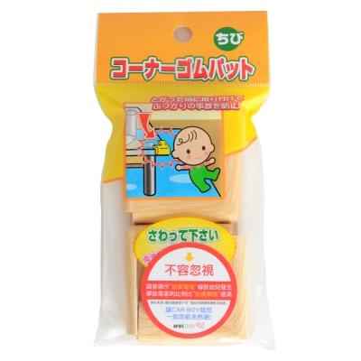 日本 CAR-BOY-桌角防護軟墊-小小16入(淺木紋)