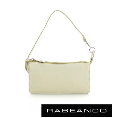 RABEANCO 頂級牛皮多層手拿包長夾 - 淡黃
