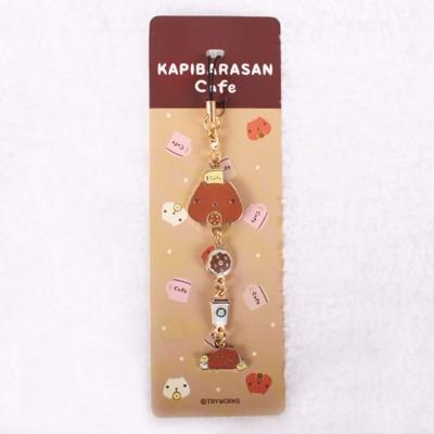 Kapibarasan 水豚君咖啡小舖系列金屬吊飾 。臉型水豚君