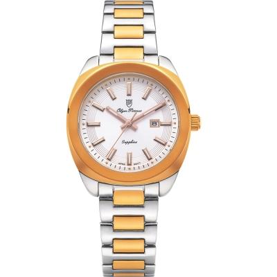 奧柏表 Olym Pianus 聚焦時尚石英腕錶-雙色/33mm   5706LSR