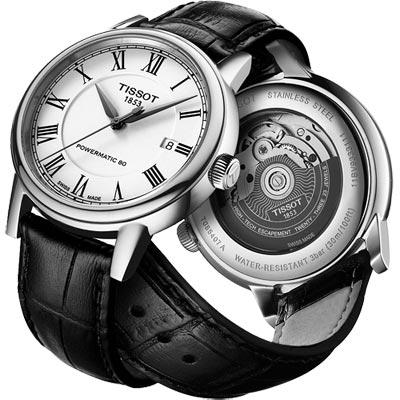 TISSOT Carson Powermatic 80 羅馬機械腕錶-銀/40mm