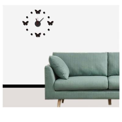 B-012創意生活系列--組合時鐘黑色蝴蝶夢壁貼 大尺寸高級創意壁貼 / 牆貼