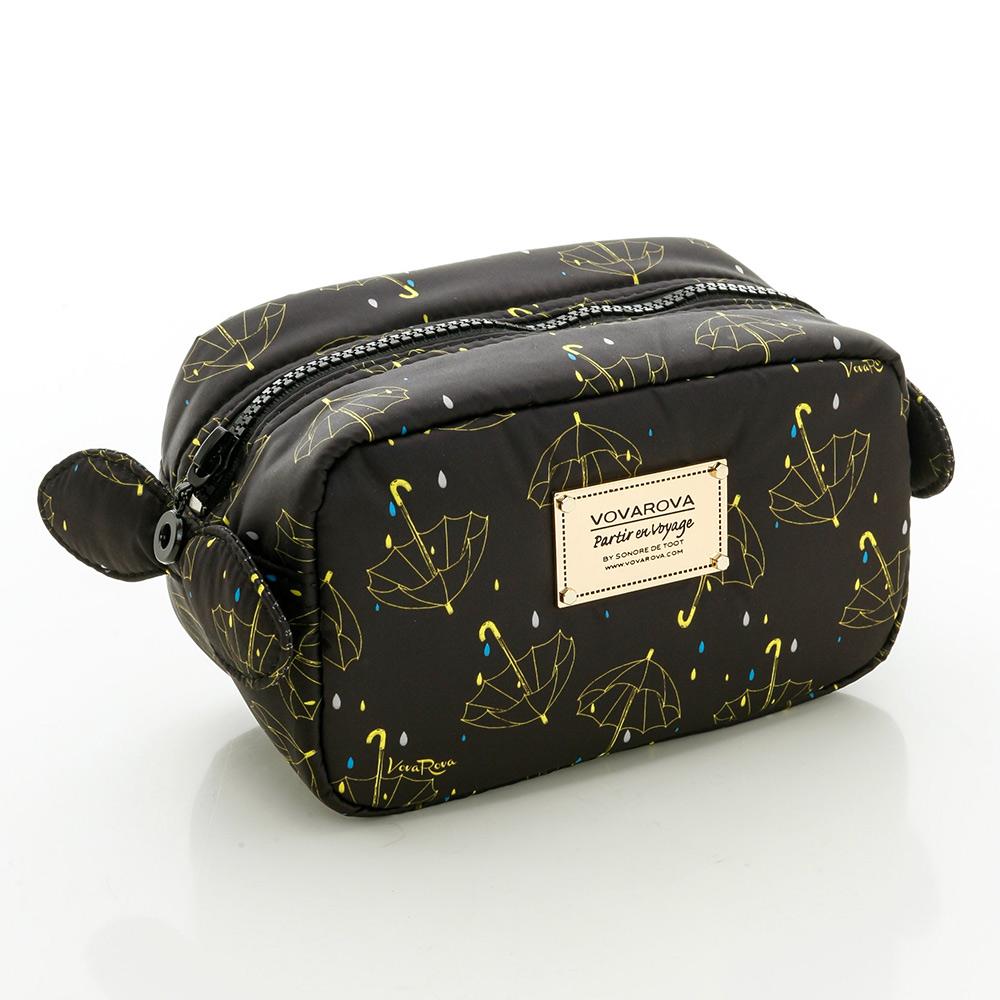 VOVAROVA空氣包-裝不滿化妝包-星光傘傘(黑)-法國設計系列