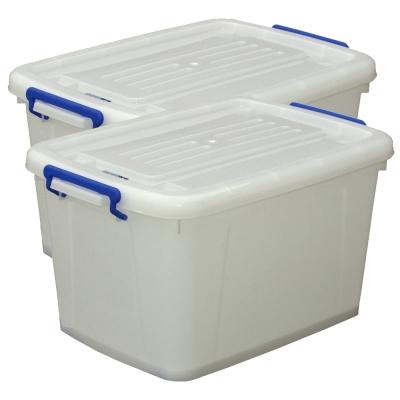 [愛收納]儲水新利器-加厚版儲水收納多功滑輪箱二入( 90 L)