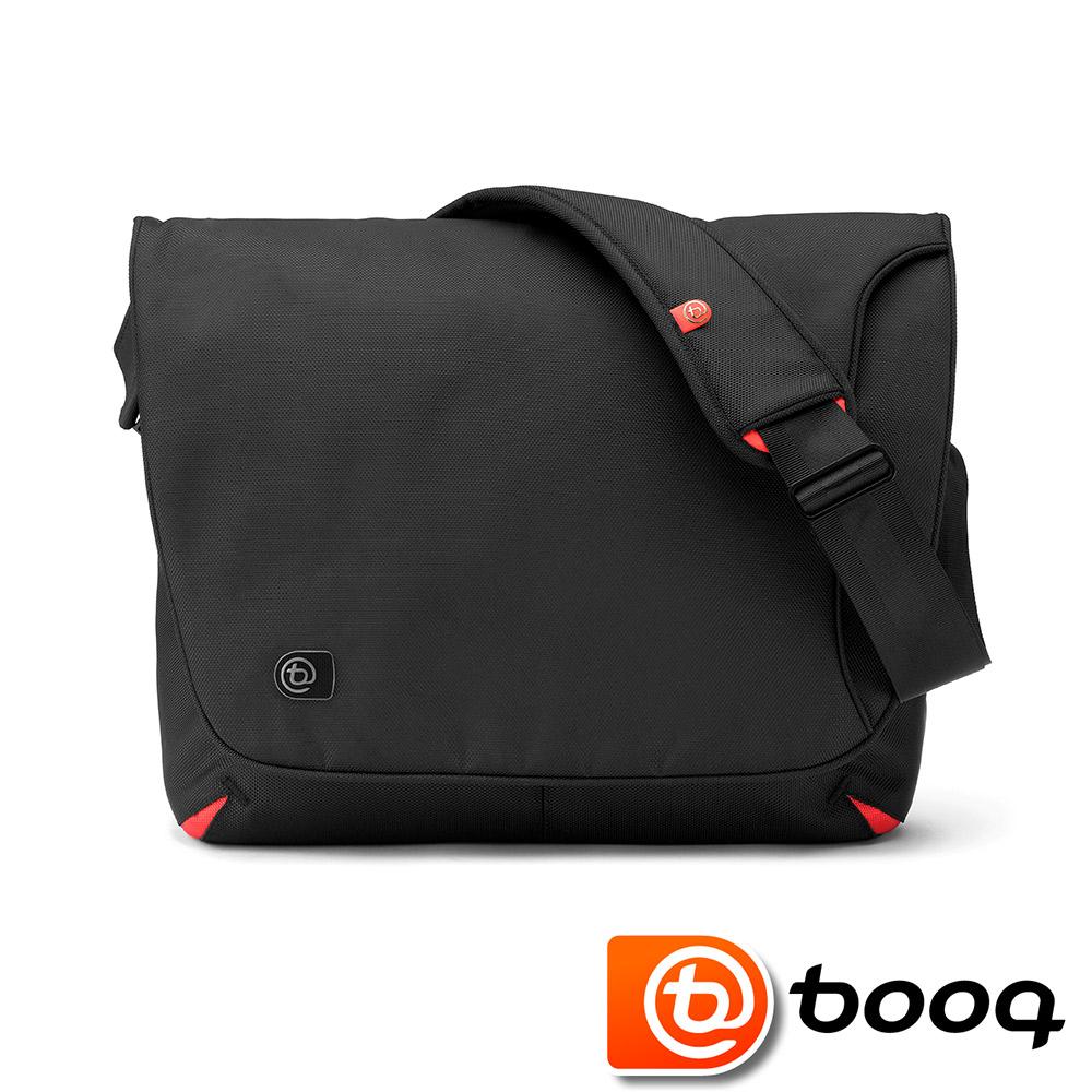 Booq Taipan Shadow XL 信差風格大型電腦側背包(黑/紅)