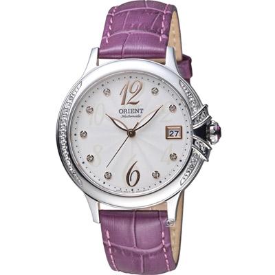 ORIENT 東方錶 ELEGANT系列 璀璨之星機械腕錶-紫色/38mm