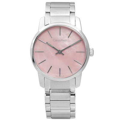 CK 都會女伶不鏽鋼手錶-粉色/31mm