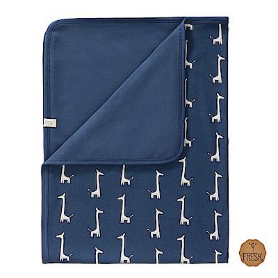 荷蘭 FRESK 天然有機棉嬰兒毯 (藍色長頸鹿)