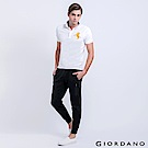 GIORDANO 男裝簡約素色修身內鋪絨束口褲-09 標誌黑