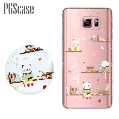 PGS Samsung Galaxy Note5 奧地利彩鑽防摔手機鑽殼-貓咪書房