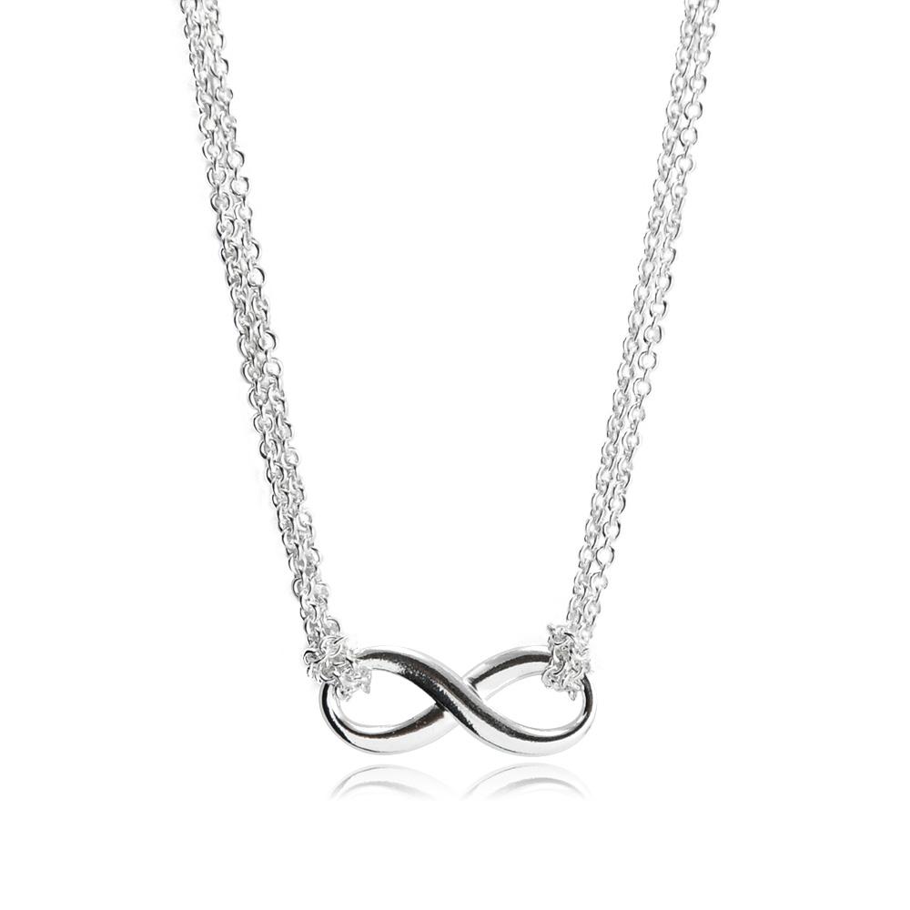 Tiffany&Co. Tiffany Infinity 經典永恆無限雙鍊純銀項鍊