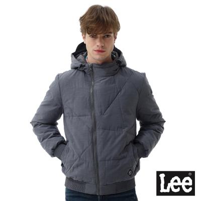 Lee HEAT連帽舖棉外套/UR-男款-灰色
