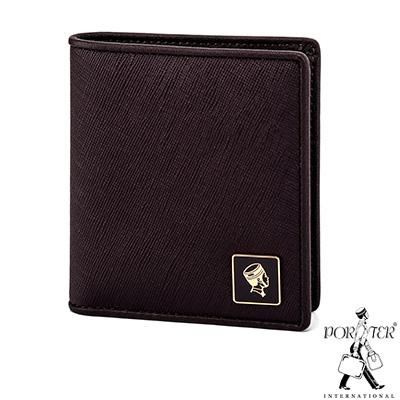 PORTER - 法式時尚BEND俐落直式皮夾 - 梅洛紅